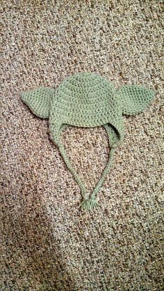 Yoda Star Wars crochet hat