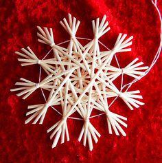Traditional German straw star ornament.