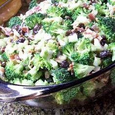 "Fresh Broccoli Salad Recipe - I'll use dried cranberries instead of ""yucky"" raisins. Sorry raisin lovers.... I can't do raisins in my food."