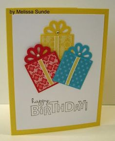 Nice Happy Birthday Card! | Need to buy that punch from Stamping Up! | card by Melissa Sunde @ I Stamp