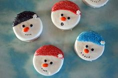 These Dipped Oreo Snowmen are such fun edible crafts for kids to make. Decorate them any way you want!