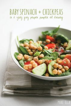 spinach chickpea, chickpea salad