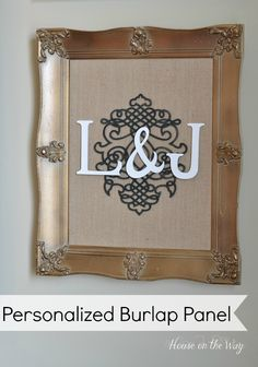 Personalized Burlap Panel for the Gallery Wall