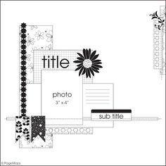 6x6 scrapbook, scrapbook inspir, scrap sketch, scrapbook idea, scrapbook layout, scrapbook sketch, scrapbook help, sketch map