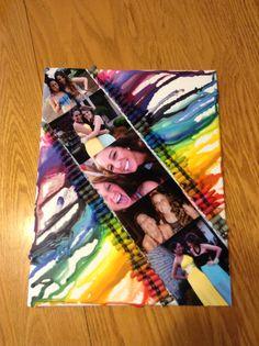 Crayon art diy birthday gift  #pictures #crayon #art #diy #canvas