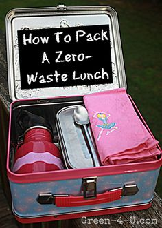 Healthy, reusable zero waste back to school lunch ideas! And chocolate chip cookie recipe too!