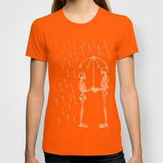 Raining Bone T-shirt by Huebucket - $22.00
