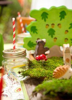 Kid's woodland birthday party!
