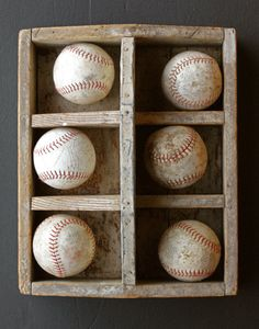 For all his gameballs -->. Baseballs on display for a boy's room!!!! <3 I for have the perfect box for this.