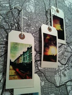 I want to buy a world map and put it in my room and put these gift tags on places i've been or wish to go!