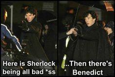 Like I said, it's Sherlock, not Benedict.