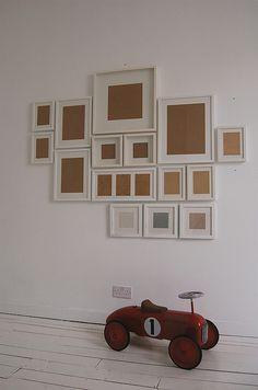 decor, idea, photoframe wall, hous, frames collage