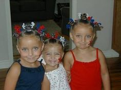 Cute 4th of July hair styles for girls