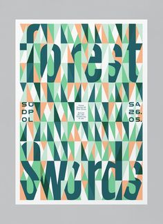 Forest Swords by Felix Pfäffli #grafica #pattern #poster