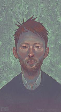 Thom Yorke Portrait by Odewill on deviantART