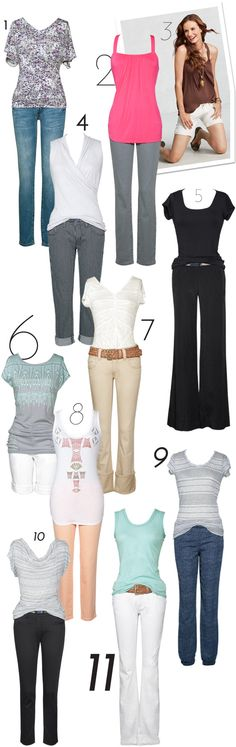 CAbi spring tees!  Love outfit #5