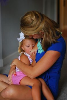"""""""What nursing a toddler really looks like""""... so sweet"""