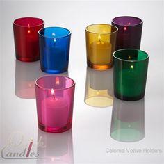 votiv holder, glasses, candle holders, candles, glass votiv, color votiv, candl holder, votiv candl, colored glass