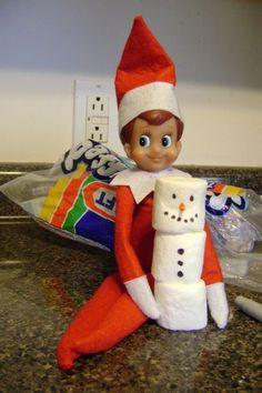 Elf made snowman! Lol, too cute:o)