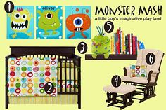 Monster Mash Nursery #baby #nursery