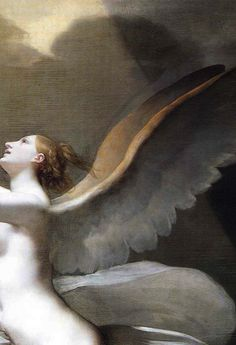"""faustyflakes: """" The Soul Breaking the Bonds that Attach it to the Earth, Pierre-Paul Prud'hon, 18th century. Detail. """""""