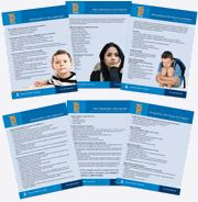 printable information sheets for teachers: classroom accommodations and modifications for ADHD, Autism, Bullying, depression and more!