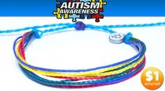 Waterproof autism bracelet...for every bracelet purchased, one dollar is donated to the ASA.