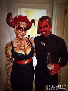 Образ дьяволицы на хэллоуин