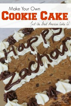 Homemade cookie cake recipe