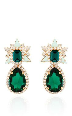Galaxy Earrings In Mint by Shourouk for Preorder on Moda Operandi