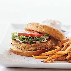 Salmon Burger | MyRecipes.com