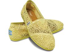 Yellow Crochet Women's Classics... I'd really like a pair of these :)