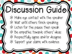 ccss ela, common core, classroom discussion rules, rules for discussion, reading for 1st grade