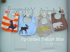 Small Fry & Co. : Hungry As A....Up-cycled T-shirt Bib Tutorial