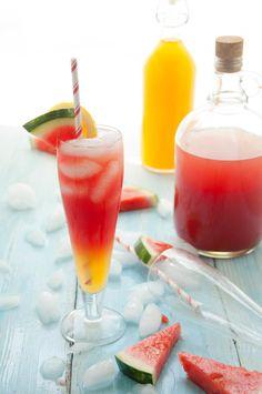 watermelon canteloupe lemonade. SO refreshing!