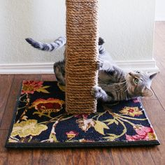 DIY Cat Scratching Post Tutorial - costs the same as store-bought but lasts years longer.