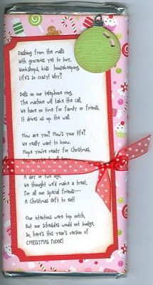 Candy wrapper with CUTE POEM