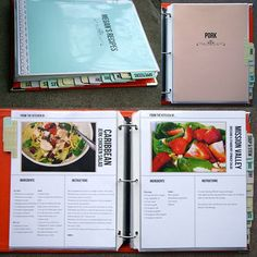 Homemade Recipe Book using Document Life Workshop Recipe Template Set by Megan Anderson - definitely going to do this as a project over the summer including all the recipes I have pinned.