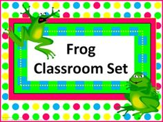 Classroom Set- FROGS THEME - This set includes the following: -Desk name tags (both regular and primary) -Charts (1 to 100, addition, and multiplication- 2 sizes) -Number line (0 to 20) -Calendar numbers (different frogs on odd numbers, even numbers, and multiple of 3) -2 ABC sets -Assortment of tags, labels, pencil toppers, charts, posters, hall passes and more.