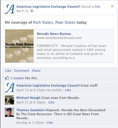 "Where #ALEC sees success, a citizen sees ""hogwash"" as Nevada has been ""devastated by the recession"""