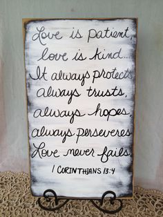 Rustic Shabby Chic Black and White Love by SassySouthernCharm wedding decor quotes, wedding quotes decorations, rustic signs for the home, wedding scripture, recept sign, wedding signs, recept idea, scripture signs, rustic love signs