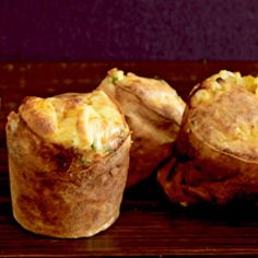 Easy Thanksgiving Sides: Scallion and Cheddar Popovers #thanksgiving #sides #holidays