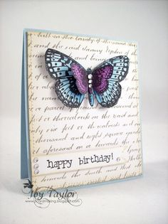 Another beautiful butterfly card I like.