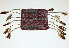 Melanesia ~ Bismark Archipelago | Armband; glass seed beads, cotton, trade cloth | Early 20th century