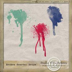 Broken Hearts: Drips freebie from ViVa Artistry