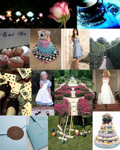 A wedding in the style of Alice in Wonderland.