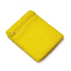 GOGO Thick Solid Color Wristband with Zipper / Wrist Wallet - Yellow $2.50 + 1.20 ship