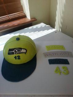 Seahawks cake I made