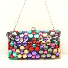 Colorful Artificial Gemstones Handbag With Cheapest Price $46.98 Offered By Prinkko