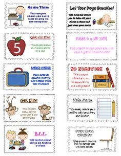 Clip Chart Behavior Coupons